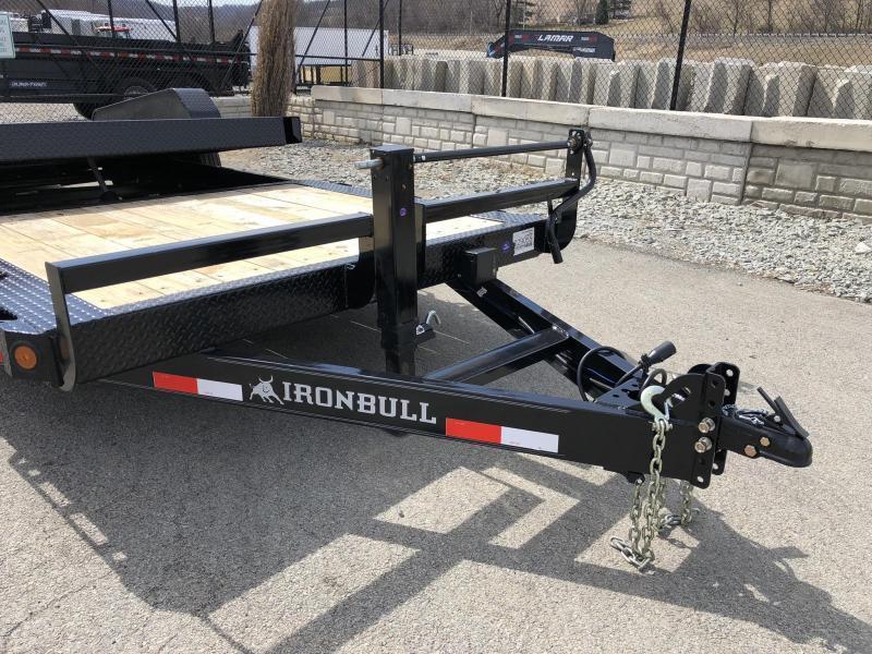 2020 Ironbull 7x16+6 Gravity Tilt Equipment Trailer 14000# TORSION * STOP VALVE * SUPER LOW LOAD ANGLE