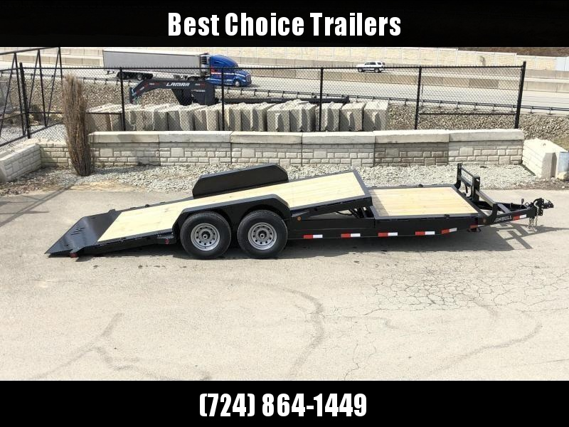 2020 Ironbull 7x16+6 Gravity Tilt Equipment Trailer 14000# TORSION * STOP VALVE * SUPER LOW LOAD ANGLE