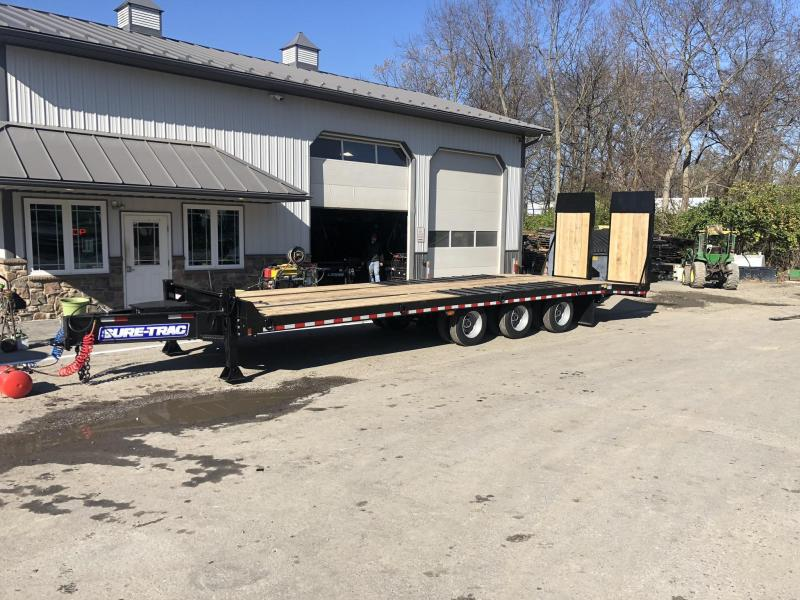 2020 Sure Trac  102x22+7' Air Brake Beavertail Deckover Trailer 61000# GVW * ST102245ABDO3A-B-610 * TRIPLE AXLE * AIR RAMPS 40x80 * 7.5' DOUBLE BROKE BEAVERTAIL