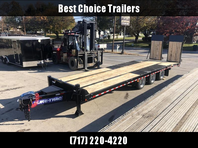 "2020 Sure Trac  102x24+7.5' Air Brake Beavertail Deckover Trailer 61000# GVW * TRIPLE AXLE * 40X80 WOOD FILLED AIR RAMPS 40x80 * 7.5' DOUBLE BROKE BEAVERTAIL * 14"" PIERCED I-BEAM FRAME * 2"" OAK DECK * HUTCH 9700 * DUAL 50K 2-SP JACKS * TOOLBOX * (12) 1"" D"