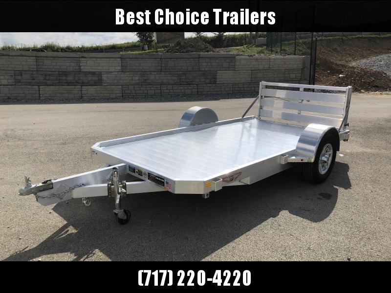 "2019 H&H 76x12' Aluminum Utility Landscape Trailer 2990# GVW * EXTRUDED ALUMINUM FLOOR * BI FOLD GATE * ALUMINUM WHEELS * TRIPLE TUBE TONGUE * TUBE TONGUE * SWIVEL JACKS * STAKE POCKETS * EXTENDED 54"" GATE * CLEARANCE"