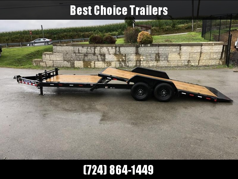 "2020 Load Trail 7x24' Gravity Tilt Equipment Trailer 14000# GVW * 16+8' SPLIT DECK * REMOVABLE FENDERS * 8"" I-BEAM MONOFRAME * DEXTER TORSION AXLES * GRAVITY TILT W/ STOP VALVE * TOOL TRAY * 2-3-2 WARRANTY * POWDER PRIMER * 12K JACK * 2-3-2 WARRANTY"