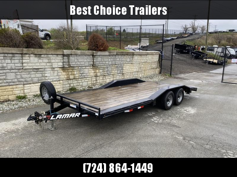 "USED 2018 Lamar 102x20' Buggy Car Hauler Trailer 9990# GVW * 102"" DECK * DRIVE OVER FENDERS *  7K DROP LEG JACK * ADJUSTABLE COUPLER * RUBRAIL * D-RINGS * SPARE TIRE *"