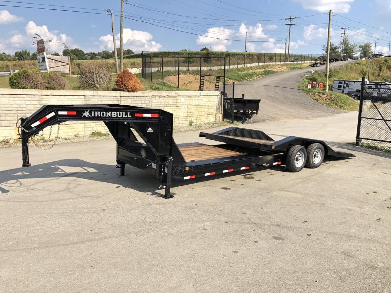 "2019 Ironbull 102x22 Gravity Tilt Equipment Trailer 14000# * 16+6' SPLIT DECK * TORSION * DEXTER'S * STOP VALUE * DRIVE OVER FENDERS * 102"" DECK"