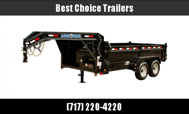 "2020 Load Trail 7x14' Gooseneck Dump Trailer 14000# GVW * GD8314072 * 8"" I-BEAM FRAME * 12K JACK * 3-WAY GATE * TARP KIT * SCISSOR HOIST * 10GA 2PC SIDES & FLOOR * 6"" TUBE BED FRAME"