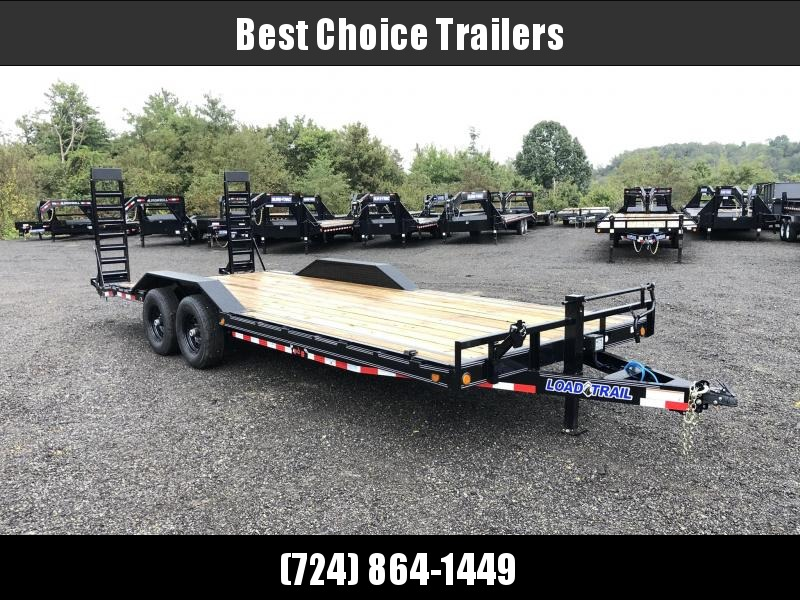 "2019 Load Trail 102x22' Equipment Trailer 14000# GVW * 102"" DECK * DRIVE OVER FENDERS * STAND UP RAMPS * RUBRAIL * DEXTER'S * 2-3-2 * POWDER PRIMER * CLEARANCE"