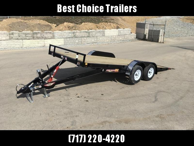 2020 H&H 7x20' MX Manual Tilt Car Hauler Trailer 7000# GVW * DRIVE OVER FENDERS