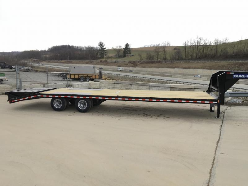 2020 Sure-Trac 102x35+5 Gooseneck Beavertail Deckover Trailer 25990# GVW * 12K AXLES * PIERCED FRAME * FULL WIDTH RAMPS * DEXTER HDSS SUSPENSION