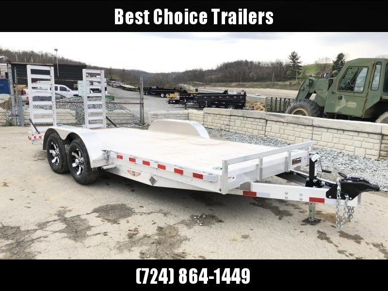 NEW H&H 7x20 HDA ALUMINUM Equipment Trailer 14000# GVW * EXTRUDED ALUMINUM FLOOR * TORSION * SWIVEL D-RINGS * EXTRA STAKE POCKETS * CLEARANCE
