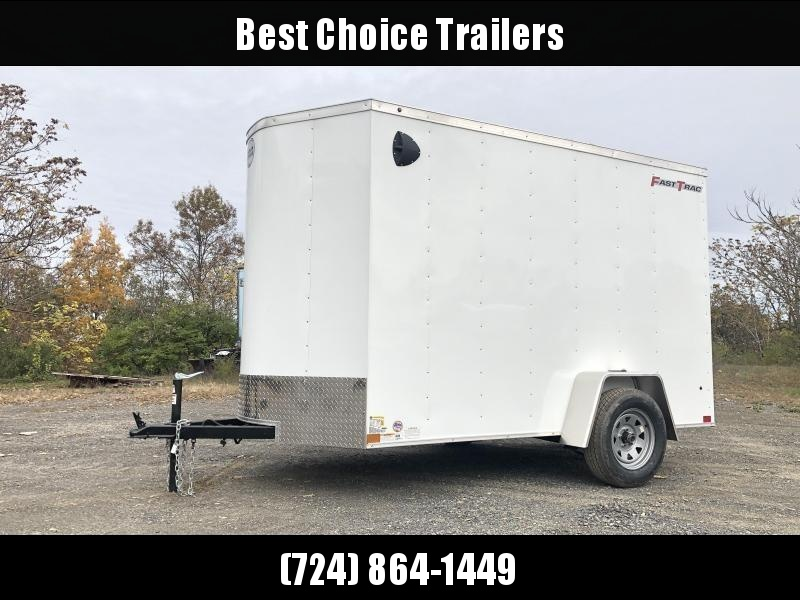 """2020 Wells Cargo 6x10' Fastrac Enclosed Cargo Trailer 2990# GVW * WHITE EXTERIOR * RAMP DOOR * V-NOSE * 1 PC ROOF * 16"""" O.C. WALLS * BULLET LED'S"""