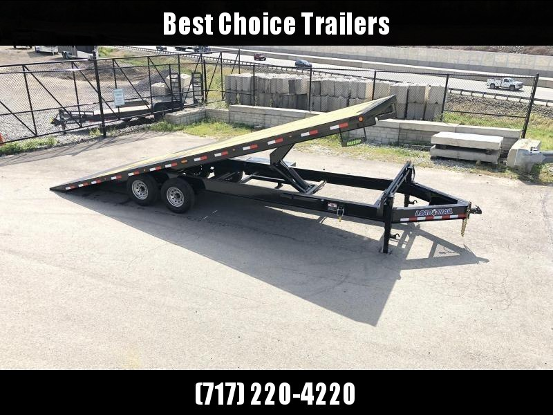 "2020 Load Trail 102x26' Deckover Power Tilt Trailer 14000# GVW * DUAL HYDRAULIC JACKS * SCISSOR HOIST * 10""/12# I-BEAM MAINFRAME * 6""/12# I-BEAM BEDFRAME * SIDE TOOLBOX * CHAIN TRAY * DEXTER AXLES * PRIMER * 2-3-2 WARRANTY"