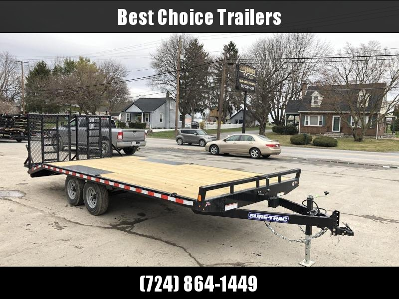2020 Sure-Trac 102x17+3 9990# Deckover Equipment Trailer * HD SPLIT GATE