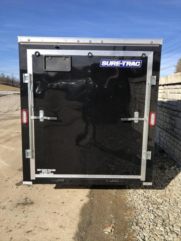 2020 Sure-Trac 7x12' Enclosed Cargo Trailer 2990# GVW * CHARCOAL * SEMI-SCREWLESS * RV DOOR * TUBE STUDS * UNDERCOATED * V-NOSE