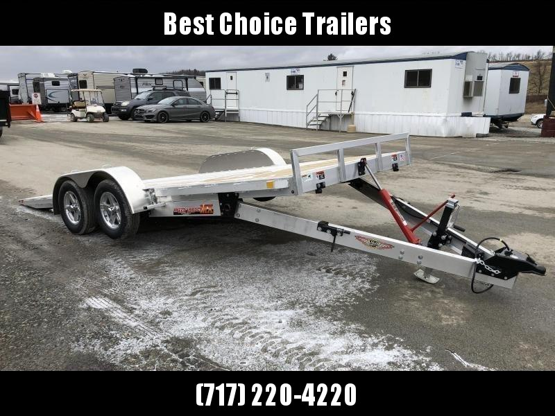 "2020 H&H 7x18' MXA Aluminum Manual Tilt Car Hauler Trailer 7000# GVW * 6"" FRAME * REMOVABLE FENDERS"