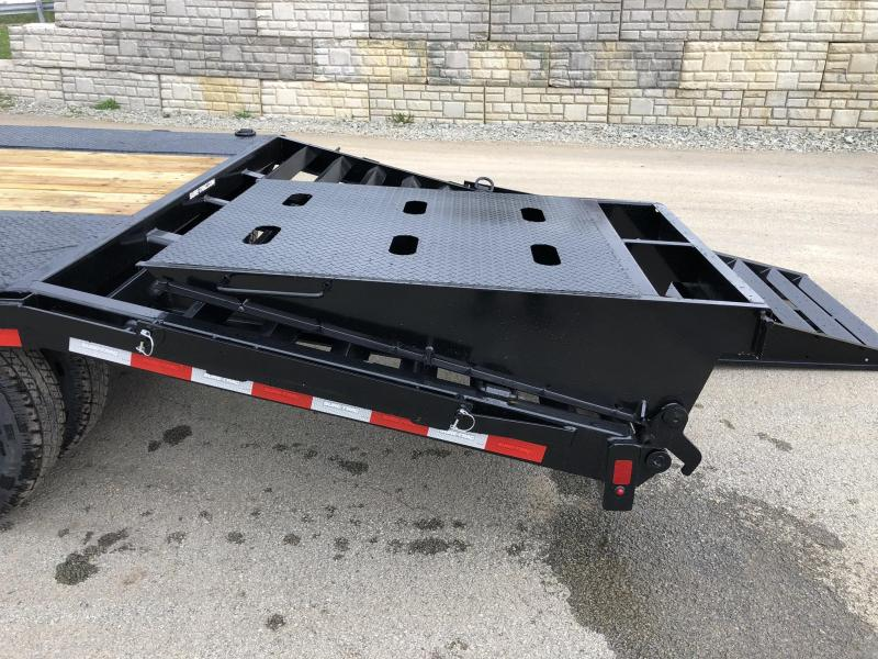 2019 Sure-Trac 102x20+5 Gooseneck Beavertail Deckover Trailer 22500# GVW * PIERCED FRAME * FULL WIDTH RAMPS * CLEARANCE