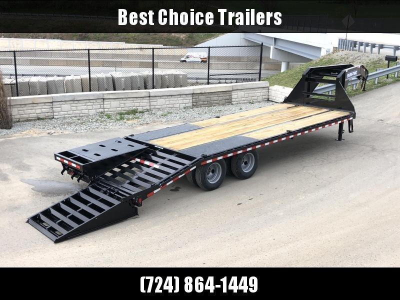 2019 Sure-Trac 102x20+5 Gooseneck Beavertail Deckover Trailer 22500# GVW * PIERCED FRAME * FULL WIDTH RAMPS * CLEARANCE