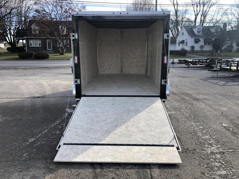 2020 Sure-Trac 7x12' Enclosed Cargo Trailer 7000# GVW * WHITE * SEMI-SCREWLESS * RV DOOR * TUBE STUDS * UNDERCOATED * V-NOSE
