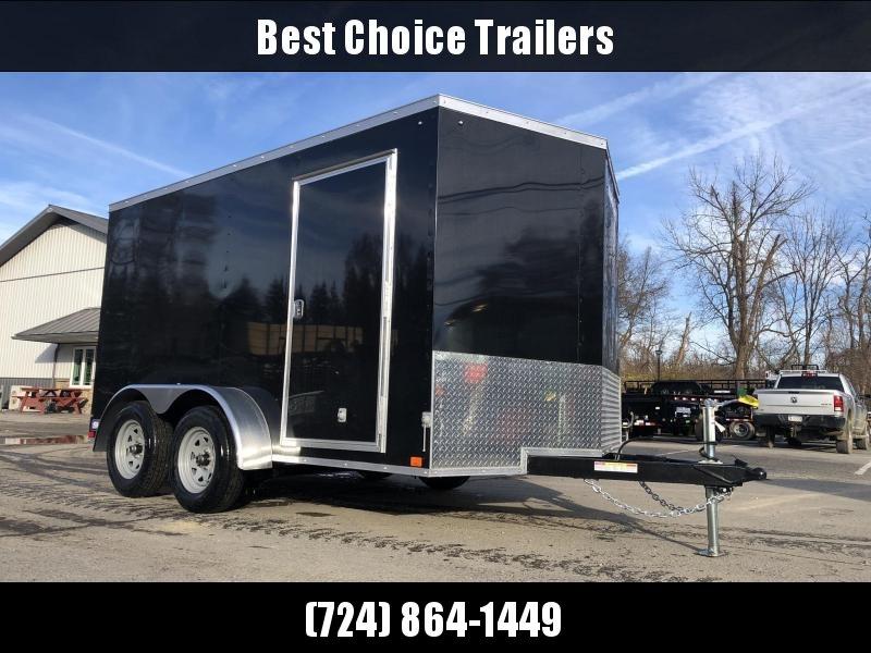2020 Sure-Trac 7x12' Enclosed Cargo Trailer 7000# GVW * WHITE * SEMI-SCREWLESS * RV DOOR * TUBE STUDS * UNDERCOATED * V-NOSE
