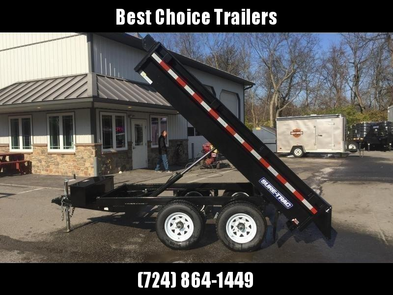 2020 Sure-Trac 6x10' Deckover Dump Trailer 7000# GVW * INTEGRATED KEYWAY * SPARE MOUNT * TARP PREP * D-RINGS * POWER UP/ DOWN * TRIPLE TUBE TONGUE * BULLET LED'S * RADIALS * POWDERCOATED * SEALED HARNESS
