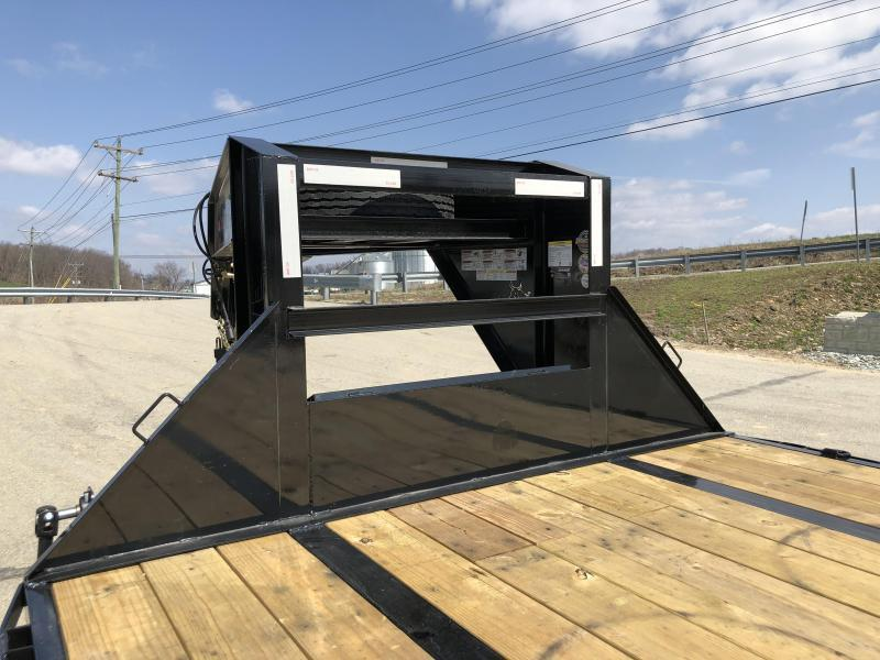 2019 Ironbull 102x32' Gooseneck Deckover Hydraulic Dovetail Trailer 22000# GVW * BLACKWOOD TAIL * I-BEAM FRAME * TORQUE TUBE * UNDER FRAME BRIDGE * RUBRAIL/STAKE POCKETS/PIPE SPOOLS/D-RINGS * DUAL JACKS * FULL TOOLBOX * DEXTER'S * CLEARANCE