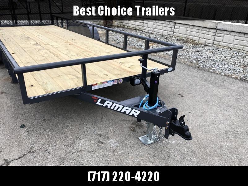 2020 Lamar 7x18' Pipe Top Utility Landscape Trailer 7000# GVW