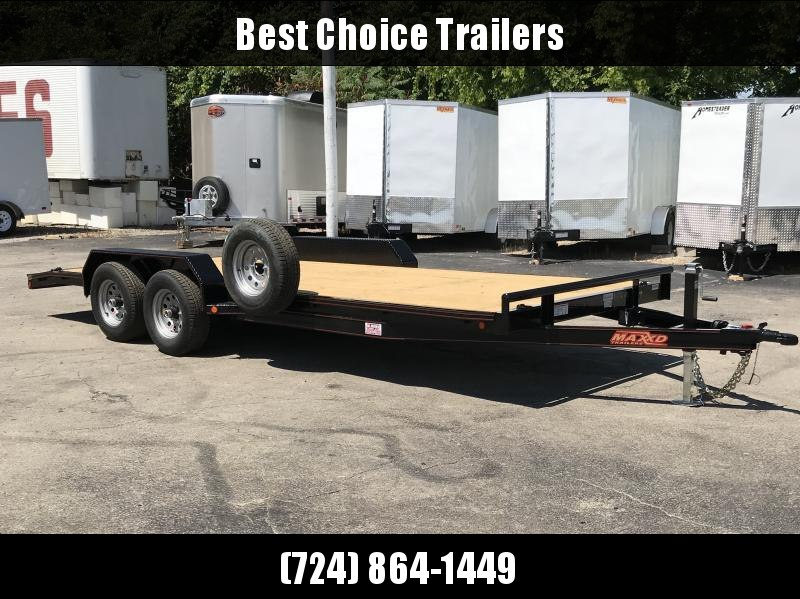 2018 Maxxd 7x20' Car Hauler Trailer 9990# GVW C5X8320 * SPARE TIRE * 7000# DROP LEG JACK * HD FENDERS * CLEARANCE - FREE ALUMINUM WHEELS