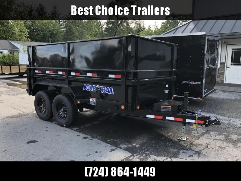 "2019 Load Trail 6x12' Dump Trailer 9990# GVW * DT7212052 * 2' SIDES * 2' SOLID SIDE EXTENSIONS * 3-WAY GATE * I-BEAM FRAME * TARP KIT * SCISSOR HOIST * 16"" RUBBER * 6"" TUBE BED FRAME"