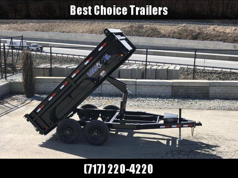 "2019 Load Trail 6x12' Dump Trailer 9990# GVW * DT7212052 * 2' SIDES * 2' SOLID SIDE EXTENSIONS * 3-WAY GATE * I-BEAM FRAME * TARP KIT * SCISSOR HOIST * 16"" RUBBER * 6"" TUBE BED FRAME"