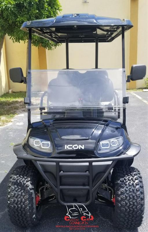 2020 ICON i60L Black Lifted Golf Cart