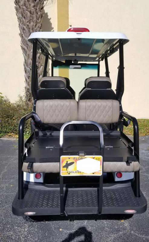 2020 White Tomberlin Ghosthawk Golf Cart