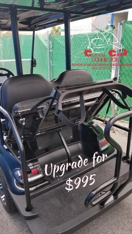 2020 ICON i20 White Golf Cart w/Golf Bag Attachment