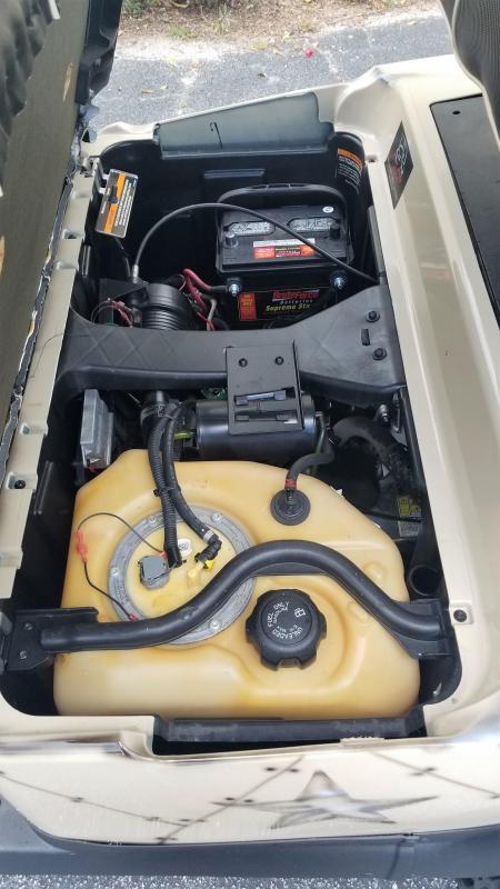 2016 Gas Club Car Precedent Golf Cart w/Custom Airbrushed Body