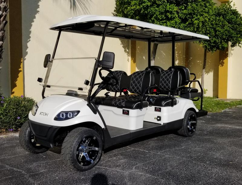 2020 ICON i60 Golf Cart w/Custom Seats, Radio & Rims & Tires