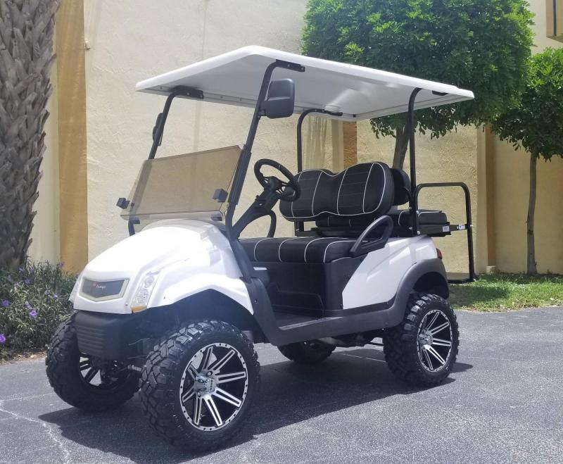 2016 Gas Club Car Precedent Golf Cart with White Caddy Style Body Kit