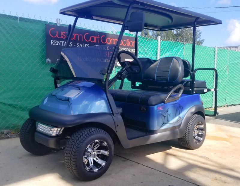 2015 Custom Blue Tropical Club Car Precedent Golf Cart