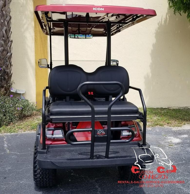 2020 ICON i40L Sangria Red Lifted Golf Cart