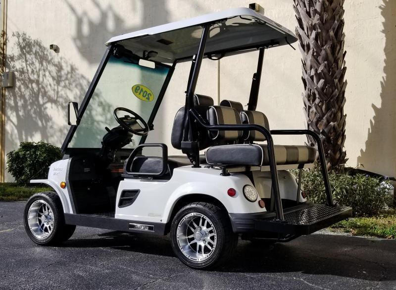 2019 White 4 Passenger Tomberlin E-Merge E2 LE Plus w/ Power Steering Golf Cart