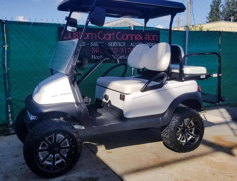 2015 White Lifted Club Car Precedent Golf Cart