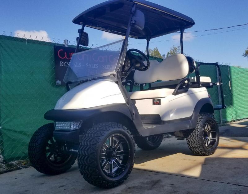 2015 White Lifted Club Car Precedent Golf Cart