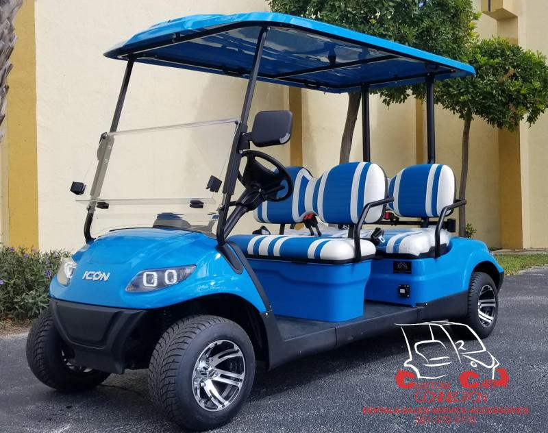 2020 ICON I40F CARIBBEAN BLUE GOLF CART 25+ MPH