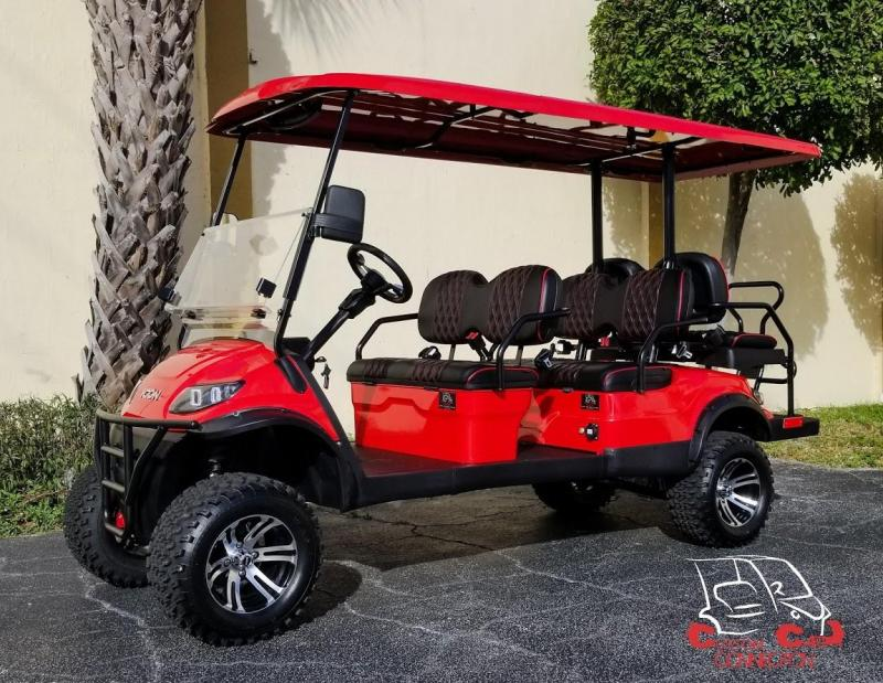 2020 ICON i60L Red  Golf Cart w/Custom Seats