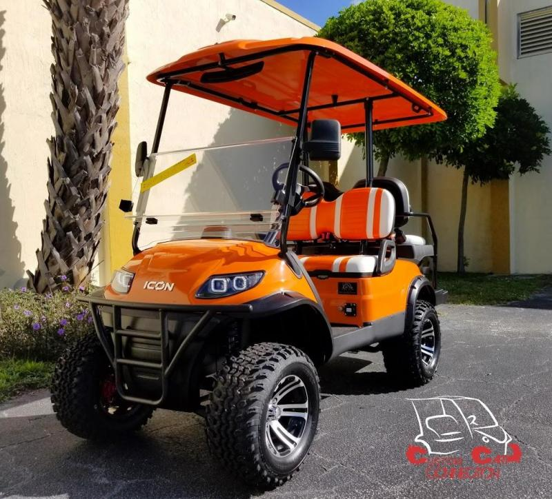 2020 ICON i40L Lifted Orange Golf Cart