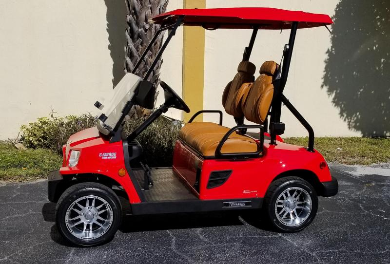 2019 Red Tomberlin E-Merge E2 Revenge Golf Cart with Upgraded High Back Seats