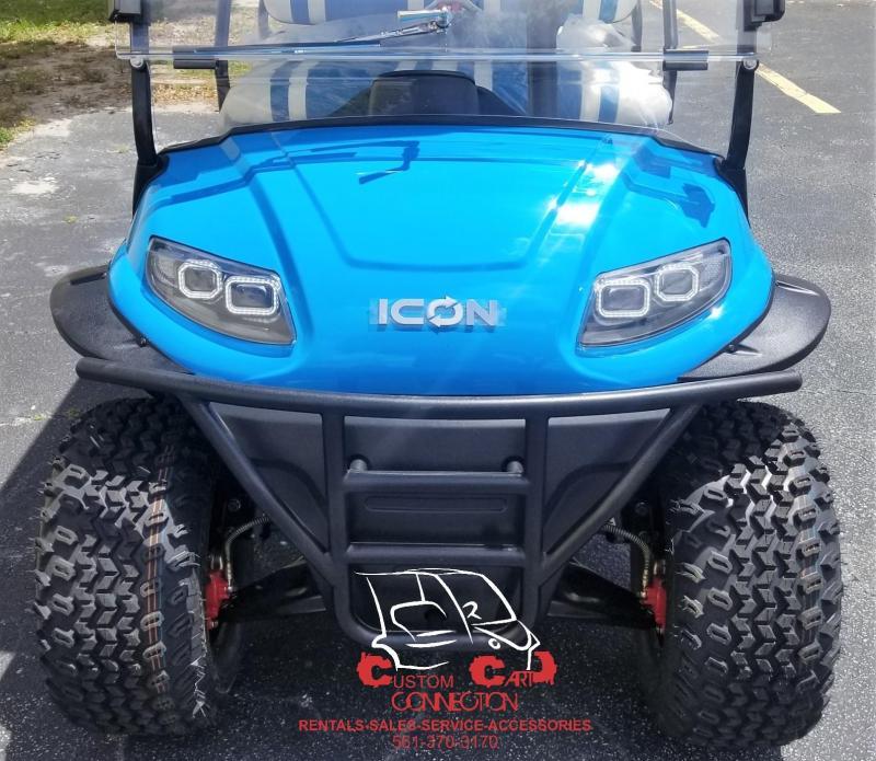 2020 ICON i40FL Caribbean Blue Lifted Golf Cart 25+mph