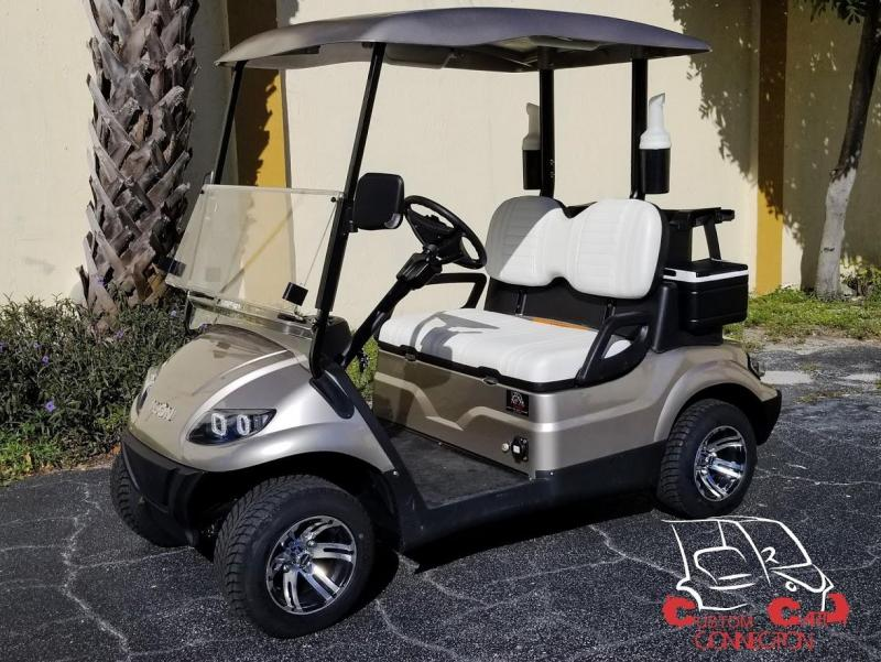 2020 ICON i20 Champagne Golf Cart w/Bag Attachments