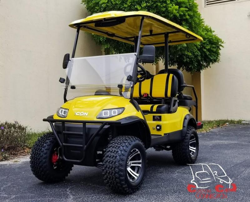 2020 ICON i40L Yelow Golf Cart Electric Vehicle