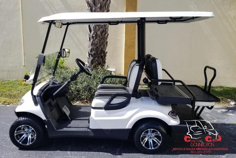 2020 ICON i40 Alpine White Golf Cart Electric Vehicle