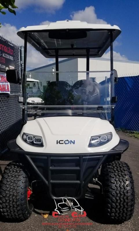 2020 ICON Alpine White i40L Golf Cart Electric Vehicle