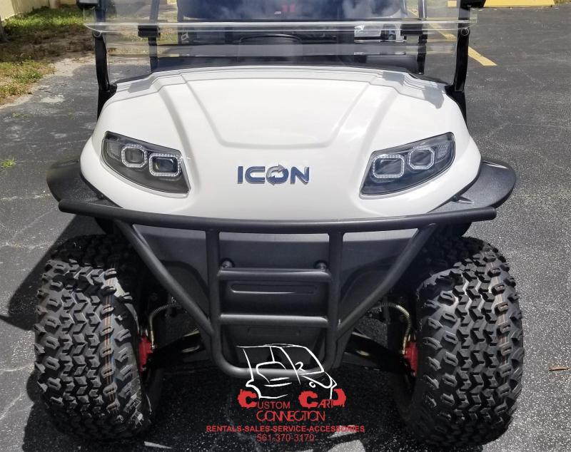2020 ICON i60L White Lifted 6 Passenger Golf Cart