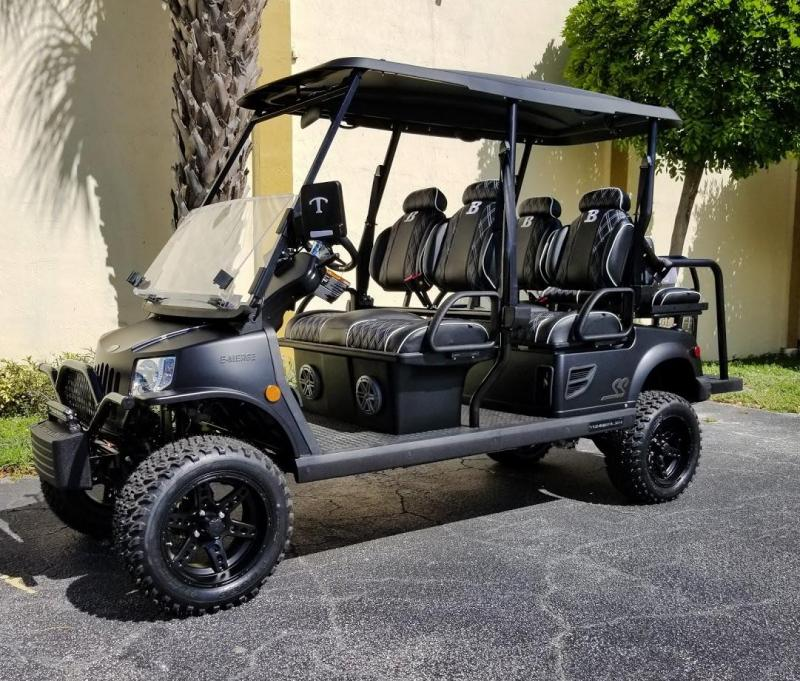 2020 Tomberlin Ghosthawk Golf Cart 6 Passenger w/Custom Seats